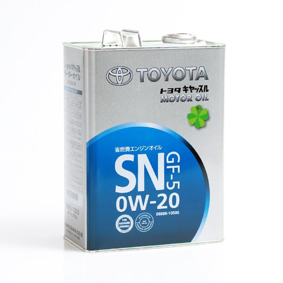 Моторное масло Toyota 0w20 SN,GF-5 4L