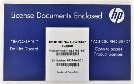 Серверное программное обеспечение HP IC FIO 1 /svr 24 x 7 1 582765/b21
