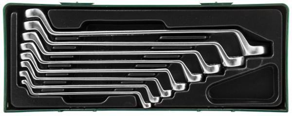 Набор ключей гаечных накидных изогнутых 75° в ложементе, 6-22 мм, 8 предметов W23108SP