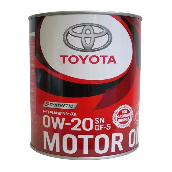 Моторное масло Toyota 0w20 SN,GF-5 1L