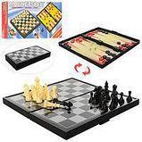 Настольная магнитная игра 3в1(Шахматы, Шашки, Нарды) 30*30 см, фото 2
