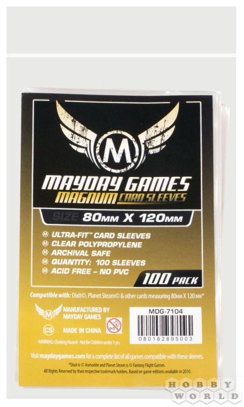 """Протекторы """"Mayday"""" (стандарт, 100 шт., 80мм*120мм): прозрачные"""