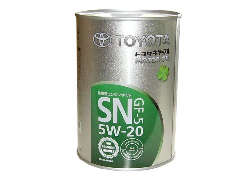 Моторное масло Toyota 5W20 SN-GF-5 1L