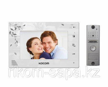 Комплект видеодомофона KOCOM KCV-A374LE(W)+KC-MC20
