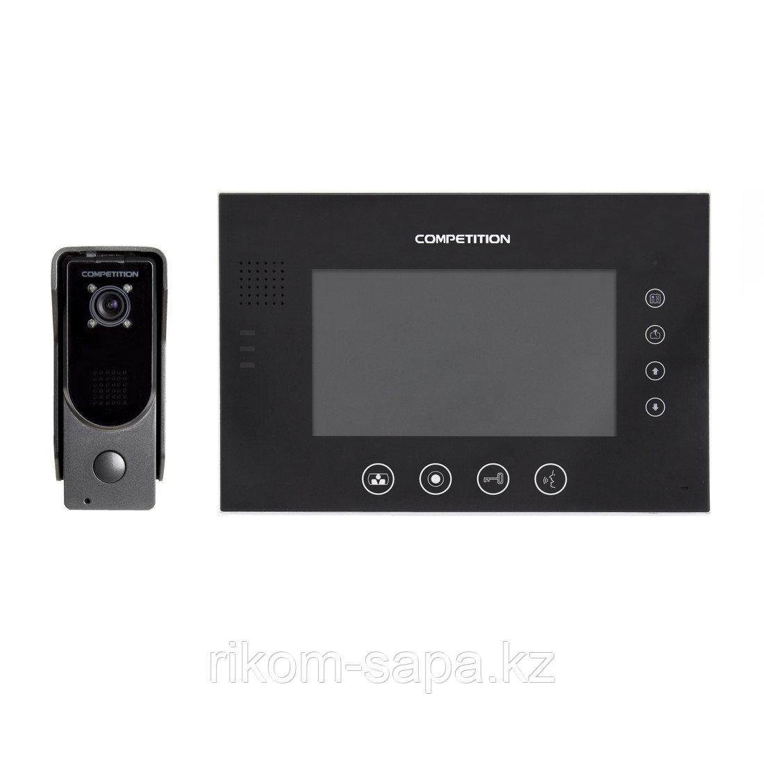 Комплект видеодомофона COMPETITION SAC7DN-CK+MT670C-CK2S1+адаптер
