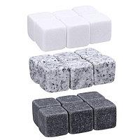 Камни для виски, 9 шт., крафт пакет, размер камня 2×2×2 см, фото 1