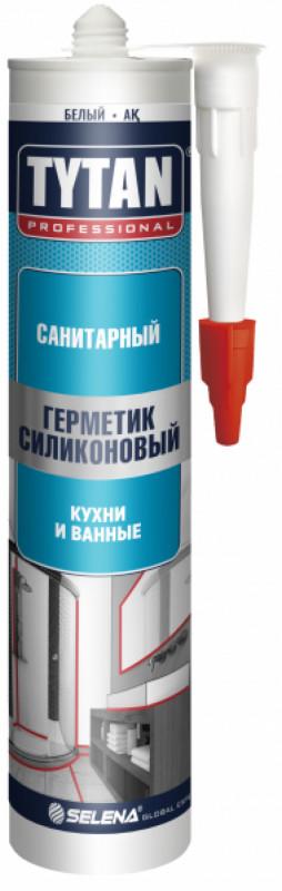 Герметик силиконовый бесцветный д/кухни и ванны 310 мл TYTAN Professional