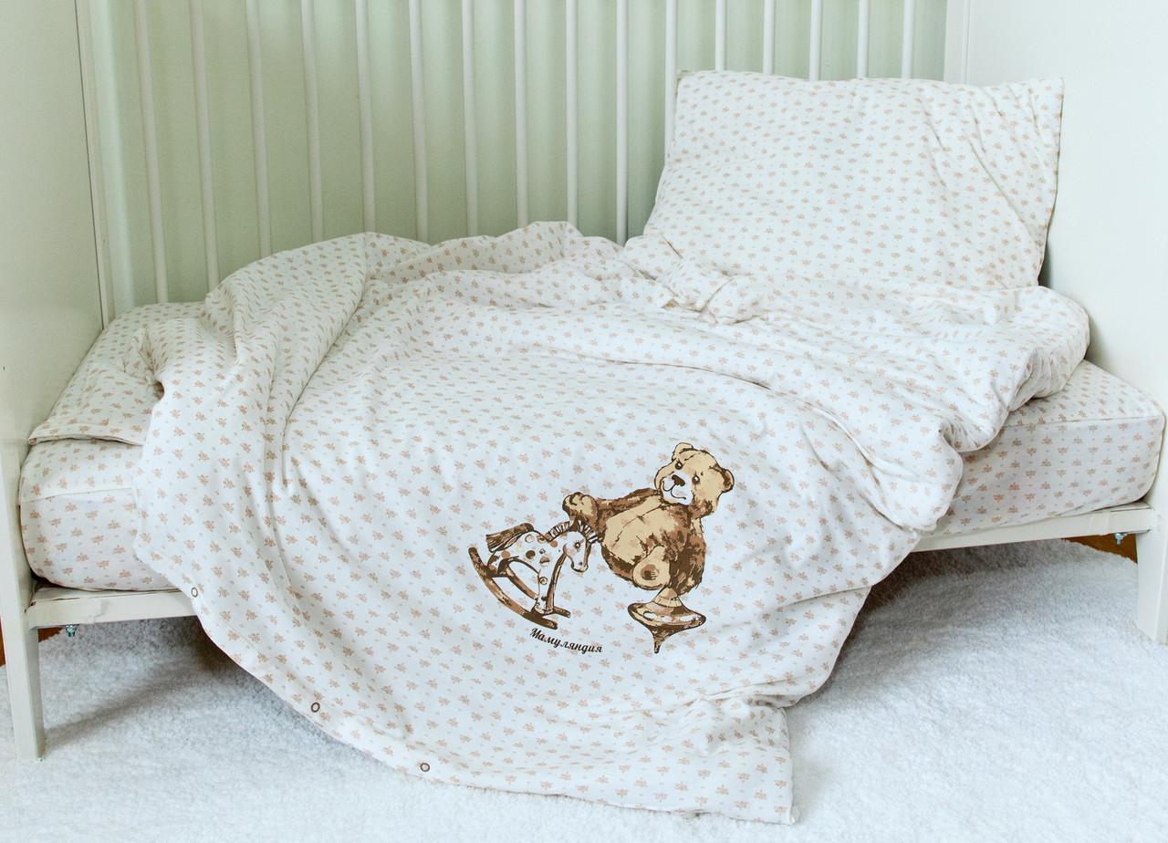 """Комплект постельного белья в манеж """"Игрушки"""""""