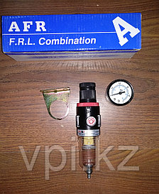 Фильтр масло-влагоотделительный одинарный, маленький с манометром AFR 2000