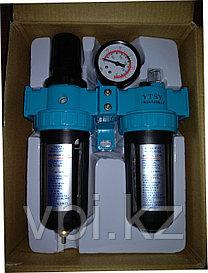 Фильтр масло-влагоотделительный двойной, большой с манометром АFR-80