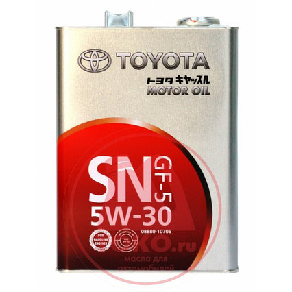 Mоторное масло Toyota 5w-30 SN GF-5 4L