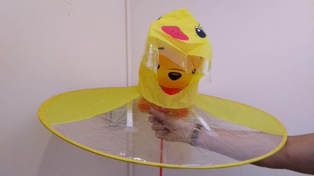 Зонт-дождевик жёлтый