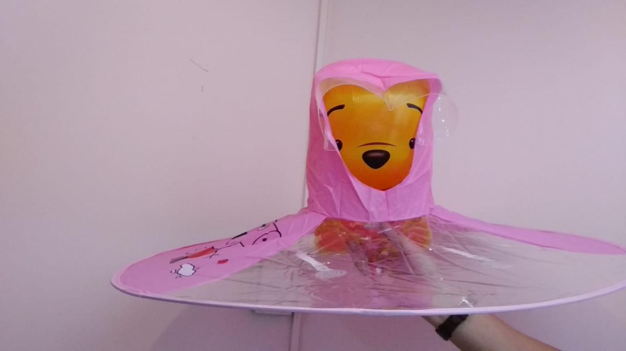 Зонт-дождевик розовый