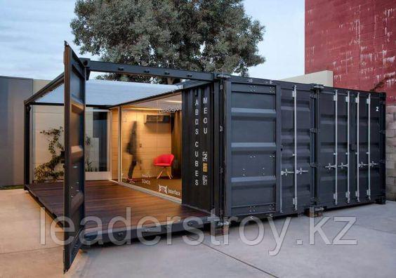 Утепленный жилой дом из контейнеров на заказ