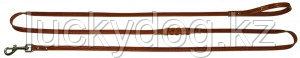 Поводок 12 длинный кожаный Наша ручная работа, 230см х 12мм