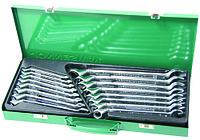 W69116S Набор ключей гаечных комбинированных с накидным изогнутым профилем 75° в кейсе, 7-24 мм, 16 предметов