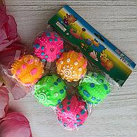 Мячики Пищалки 6 шт диаметр 8 см