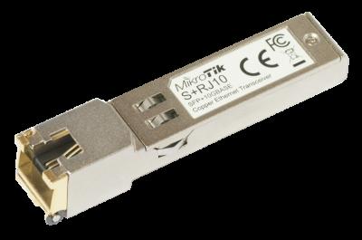 Модуль Mikrotik SFP+ с интерфейсом RJ45, до 10G