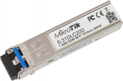 Модуль Mikrotik SFP оптический, 1.25G, дальность до 20км, 1310нм