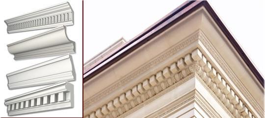 Карниз фасадный из пенополистирола