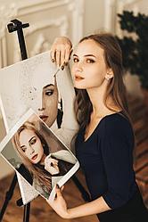 Портрет по номерам с фотографии. Размер 50Х70