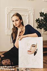 Портрет по номерам с фотографии. Размер 50Х60