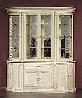 """4-х дверная витрина """"Милан-1-2-01"""" из массива древесины, фото 1"""