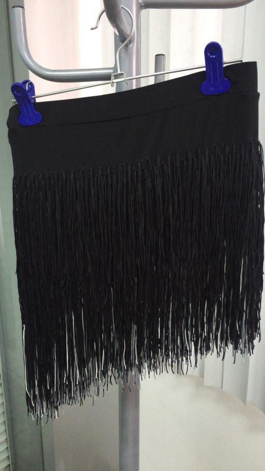 Черная юбка для танцев
