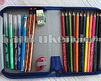 Школьный пенал книжка с наполнением 32 предмета Машинка (полный комплект)