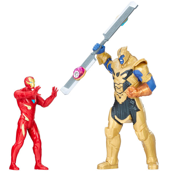 Hasbro «Мстители: Война бесконечности» Набор фигурок Танос и Железный Человек, 15 см.