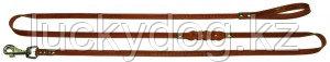 Поводок 14 длинный кожаный Наша ручная работа, 230см х 12мм