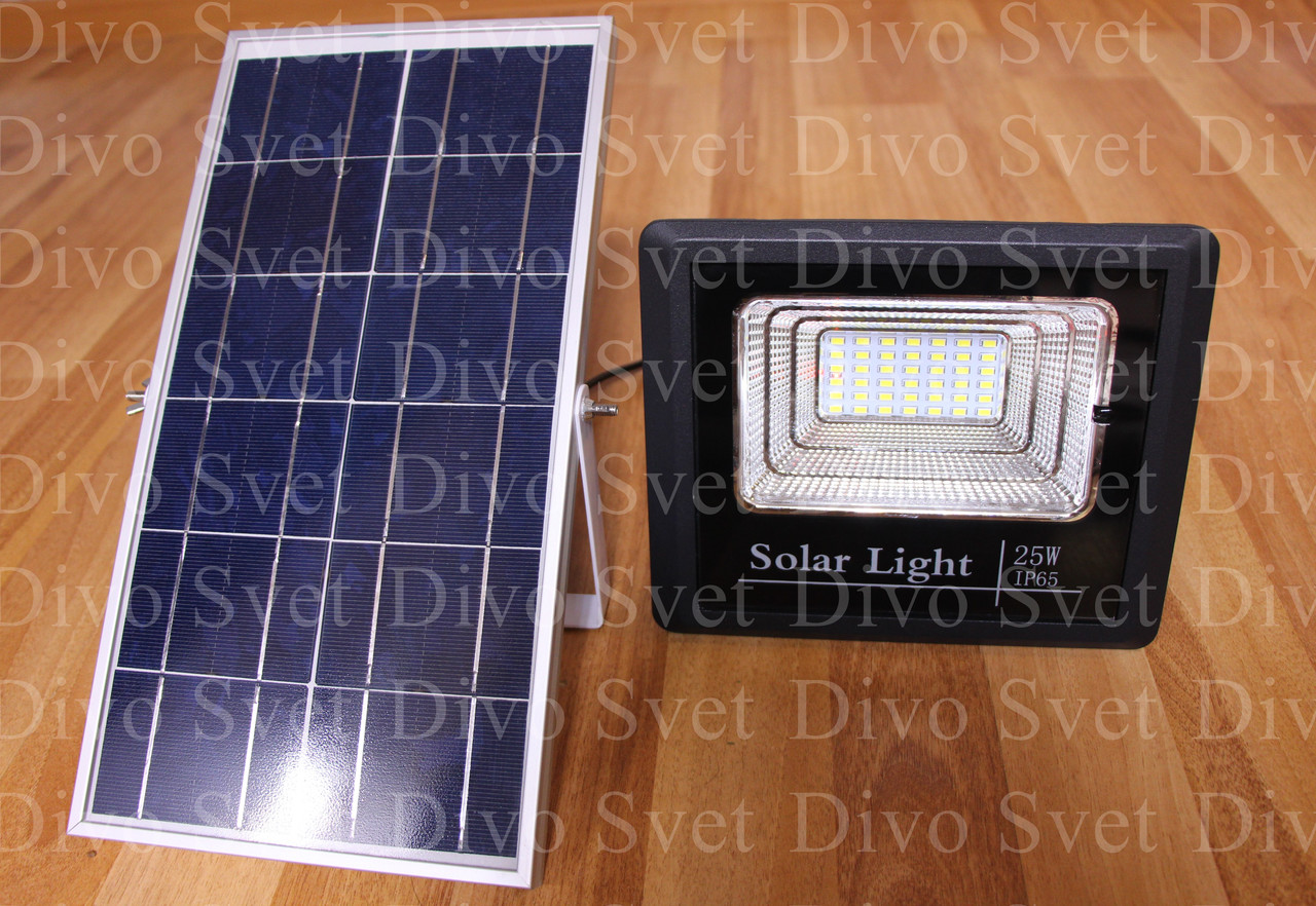 Прожектор на солнечных батареях 25W (2 ВАРИАНТА). Солнечный светодиодный светильник LED 25 Вт