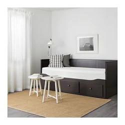 Кушетка каркас с 3 ящ. ХЕМНЭС черно-коричневый ИКЕА, IKEA - фото 2
