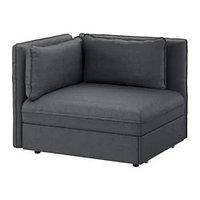 ВАЛЛЕНТУНА Секция дивана-кровати со спинкой, Хилларед темно-серыйИКЕА, IKEA, фото 1