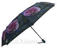 Женский зонт автомат в чехле цветы синий