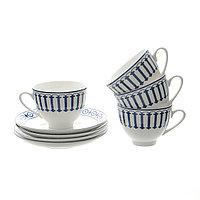 Чайный набор «PROCIDA» 4 чайные пары. В фарфоре