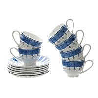 Кофейный набор «CAPRI» 6 кофейных пар. В фарфоре