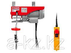 Тельфер электрический (электротельфер) ЗУБР ЗЭТ-250, 250/125 кг, 500 Вт