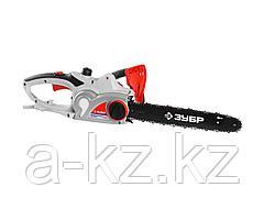 Пила цепная ЗУБР ЗЦП-2001-02, защита руки (тормоз цепи), масляный бачок, смена цепи без ключа, шина 40 см