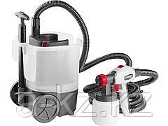 Краскопульт электрический ЗУБР КПЭ-750, 750 Вт, HVLP, 0,8 л, краскоперенос 0-800 мл/мин, вязкость краски 100 DIN/сек, сопло 2,6 мм