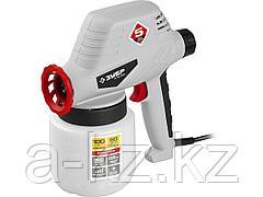 Краскопульт электрический ЗУБР КПЭ-100, 100 Вт, 0.8 л, краскоперенос 0-300 мл/мин, вязкость краски 60 DIN/сек, сопло 0,8 мм