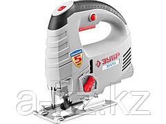 Электролобзик ЗУБР ЗЛ-570Э_z01, 3-х позиционный маятниковый ход, сталь-8 мм/дерево-65 мм, 500–3000 ходов/мин, 570 Вт