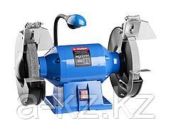 Станок точильный ЗУБР ЗТШМЭ-200-600, ЭКСПЕРТ двойной, лампа подсветки, диск 200 х 25 х 32 мм, 600 Вт