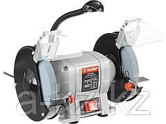 Станок точильный ЗУБР ЗТШМ-175-370, МАСТЕР, двойной, диск 175 х 20 х 32 мм, лампа подсветки, 370 Вт