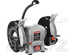 Станок точильный ЗУБР ЗТШМ-200-450, МАСТЕР, двойной, диск 200 х 20 х 32 мм, лампа подсветки, 450 Вт