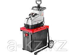 Измельчитель веток садовый ЗУБР ЗИЭ-44-2800, бесшумный электрический, режущая способность 44 мм, контейнер 60 л, 2800 Вт