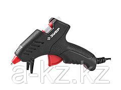 Клеевой пистолет ЗУБР 06850-10-08_z02, термоклеящий, электрический, эргономичная рукоятка, рабочая температура 165 градусов, d = 8 мм, 10 Вт
