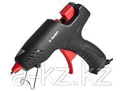 Клеевой пистолет ЗУБР 06850-55-12_z02, термоклеящий, электрический, эргономичная рукоятка, рабочая температура 193 градусов, d = 12 мм, 40 Вт