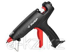Клеевой пистолет ЗУБР 06850-60-12_z02, термоклеящий, электрический, эргономичная рукоятка, рабочая температура 193 градусов, d = 12 мм, 80 Вт