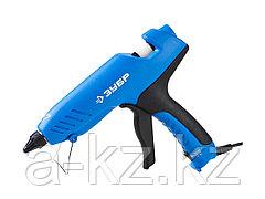Клеевой пистолет ЗУБР 06851-80-12_z02, термоклеящий, электрический, эргономичная рукоятка, выключатель на рукоятке, рабочая температура 193 градусов,